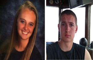 Michelle Carter and Conrad Roy III