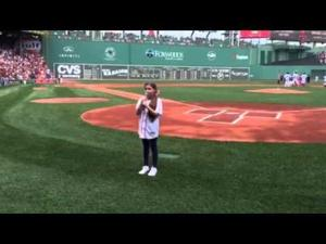 Brooke Leifer - National Anthem - Fenway 7/5/15