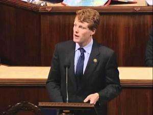 Congressman Kennedy recognizes Larry Darcey and Attleboro Sun Chronicle