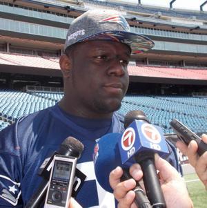 <p>Patriots' rookie defensive tackle Vincent Valentine.</p>