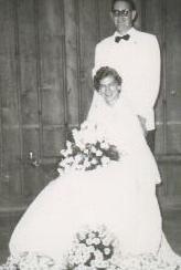 Wedding Photo of Mr & Mrs Harry C Fisher Aug 8, 1953