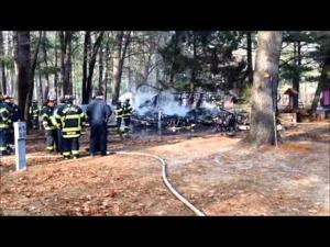 Camper fire at Canoe River Campground in Mansfield