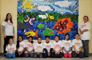 Like this mural then help attleboro 39 s studley students for Bottle cap mural tutorial