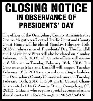 Orangeburg County / FA