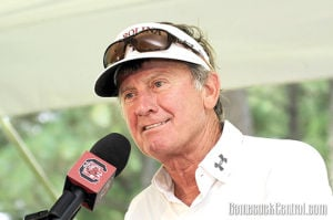 Coach points to pre-Spurrier record in touting Carolina's budding success
