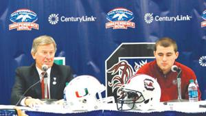 South Carolina, Miami vie for winning season today in Independence Bowl
