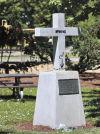 Vandals deface Mingus Park cross