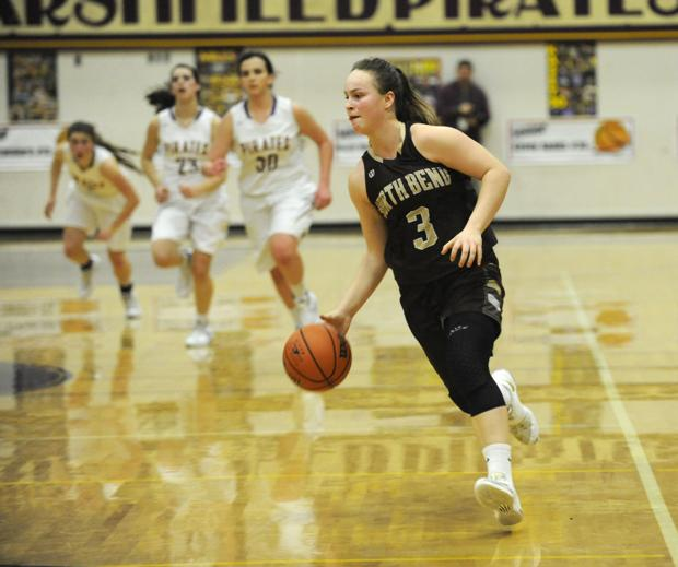 North Bend girls beat Pirates to pull into second-place tie