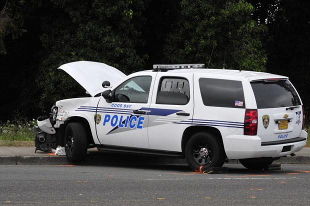 Injured Coos Bay police officer released from hospital