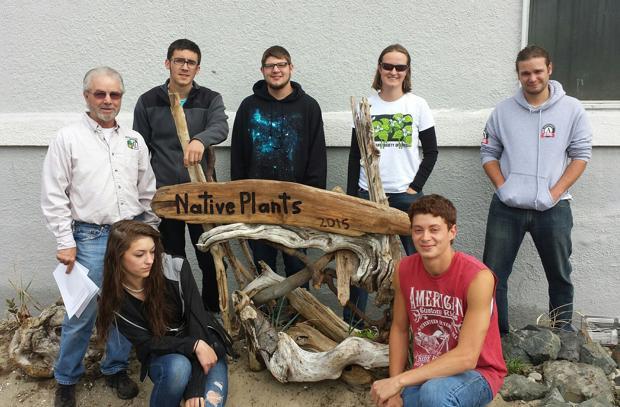 Students plant garden, reap satisfaction
