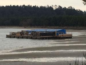 The barge at Crab Harbor