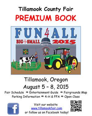 2015 Tillamook County Fair Premium Book