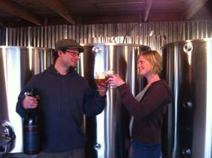 A saison toast to the newly installed brewhouse