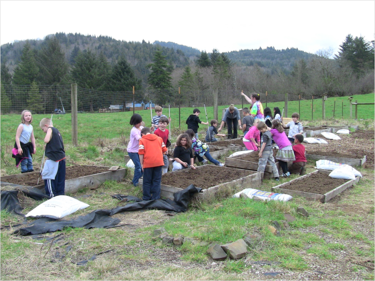 Food roots and oregon coast bank partner with nves to create school garden program news for Garden valley elementary school