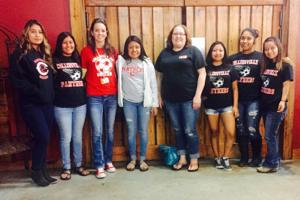 <p>Pictured are potential players for Collinsville's first ever girls soccer team.</p>