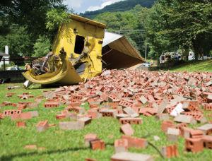 Wreck at Joe's Truck Stop on Friday