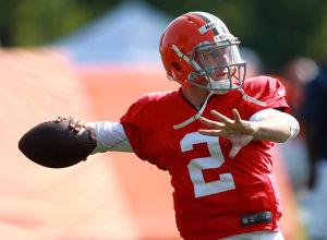 Manziel battling playbook, Hoyer in first NFL camp