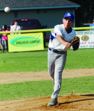 <p>Potter/McKean pitcher Howie Stuckey tossed a gem Wednesday night, giving up only one run, five hits and a walk, while striking out eight, to send Potter/McKean into sectional play at Montoursville starting Saturday. </p><div> </div>