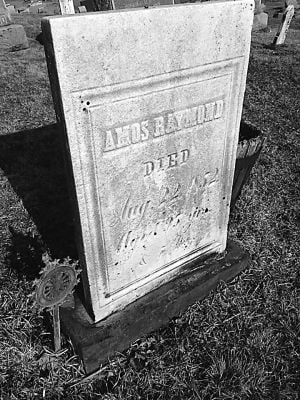 <p>Amos Raymond's resting place on a hillside in Potter County</p>