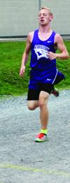 Devan Cavanaugh of Coudersport finished first Sept. 9 with a time of 18:04 in Coudersport as the Falcons defeated Smethport both in boys and girls cross country.