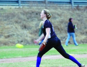 <p>Lady Falcon senior pitcher Keirsten Counts gave up five hits in the first game of a doubleheader at Galeton Wednesday. Coudersport won the game 6-2.</p><div> </div>