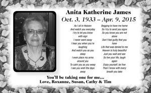 Anita Katherine James