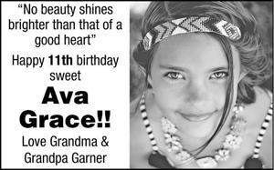 Happy Birthday Ava!