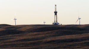 Rig in the middle of the Niobrara play in Wyoming