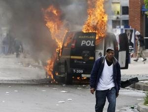 Photos: Protests turn violent in Baltimore