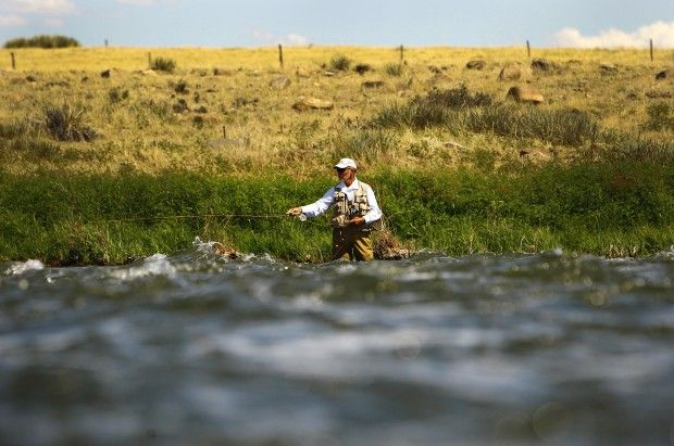 Wyoming 39 s top four fish filled trout streams open spaces for Casper wyoming fly fishing
