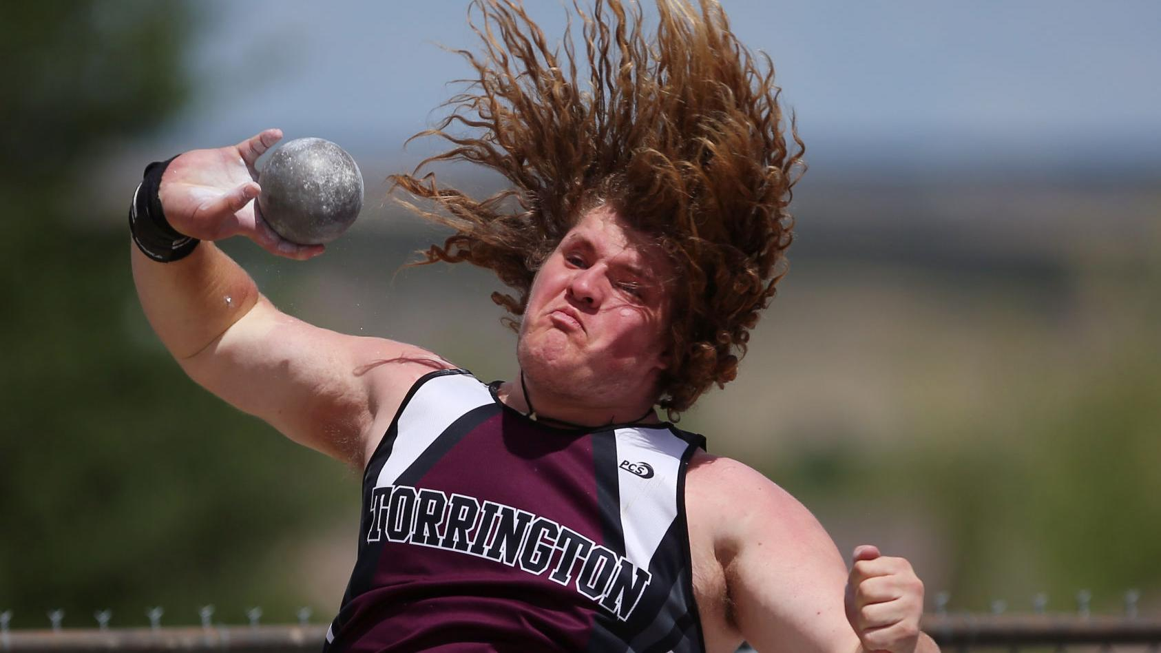Torrington senior Logan Harris channels crowd's energy to break shot put record