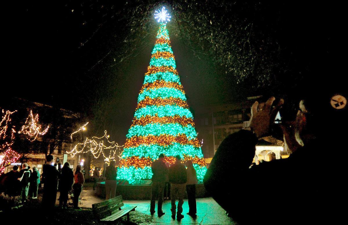 central park tree a magnet for christmas celebration