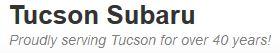 Tucson Subaru/cars.com