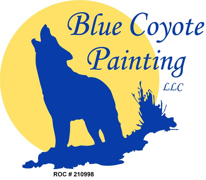 Blue Coyote Painting