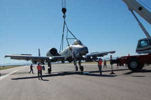 A-10 removed from runway at D-M