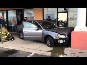 Video: Northwest Fire responds to car into storefront