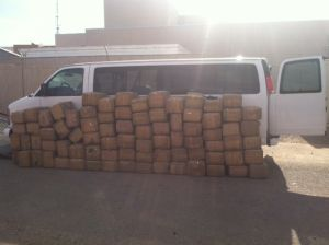 Smugglers nabbed in Pinal County after ditching broken-down van full of pot