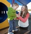 Young moms find shared time