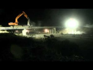 Throwback video: Marsh Station Road bridge demolition time lapse