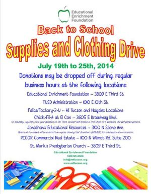 Foundation to collect school supplies for needy children