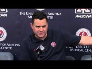 Sean Miller, players on red vs. blue game