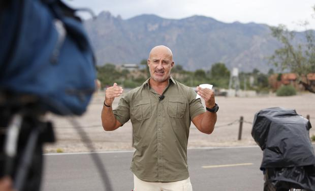 Photos: Weather Channel's Jim Cantore tracks storm from Tucson