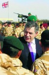 British PM Brown visits front line in Afghanistan