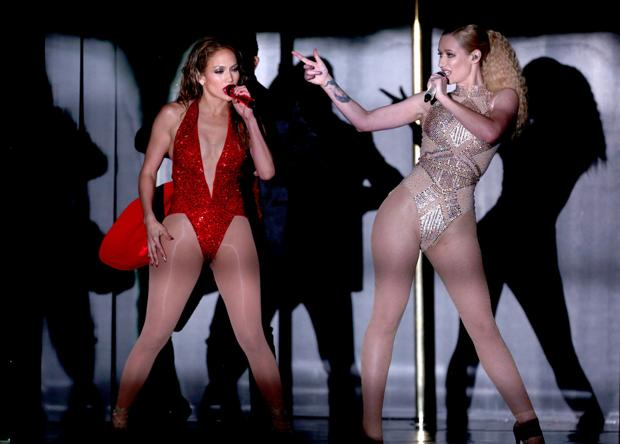 Photos: Was Iggy-JLo act raciest of Music Awards performances?