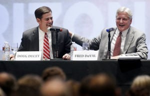DuVal, Ducey show sharp differences in Tucson debate