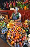 Colorful, artistic eggs