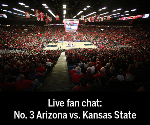 Live fan chat: No. 3 Arizona vs. Kansas State basketball game
