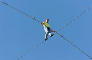 High wire walk