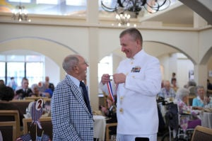 DM blog: Presenting medallions to WWII veterans