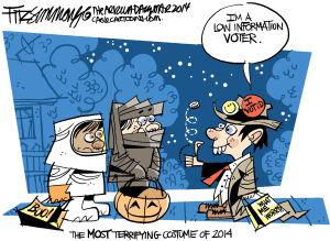 Daily Fitz Cartoon: Halloween costume